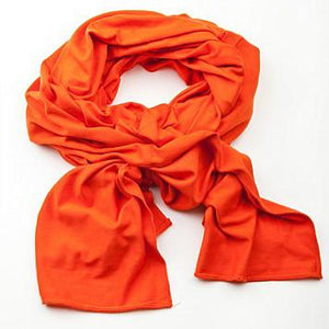 Abi and Joseph | Long Scarf | Super Soft Jersey | Orange