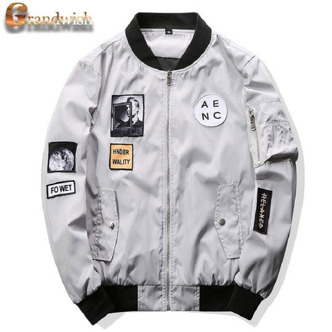 Grandwish Hip Hop Designs Slim Fit Pilot