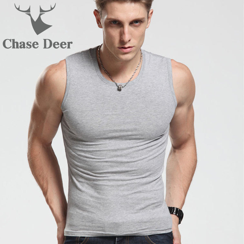 Chase Deer New Cotton High Quality Bodybuilding Singlet For Men