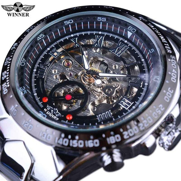 T-WINNER New Golden Bezel Design Automatic Mechanical Sport Watch