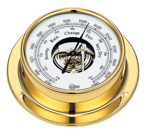 BARIGO Ship's Barometer - polished brass (Coastal only)