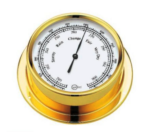 BARIGO Ship's Barometer - polished brass (Inland use only)