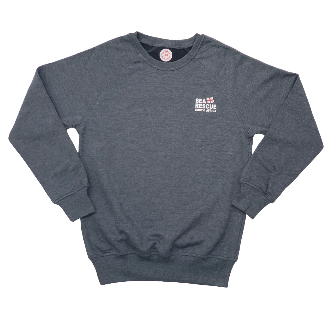 "NSRI Fleece Pullover ""Sea Rescue"" (Unisex) Charcoal"