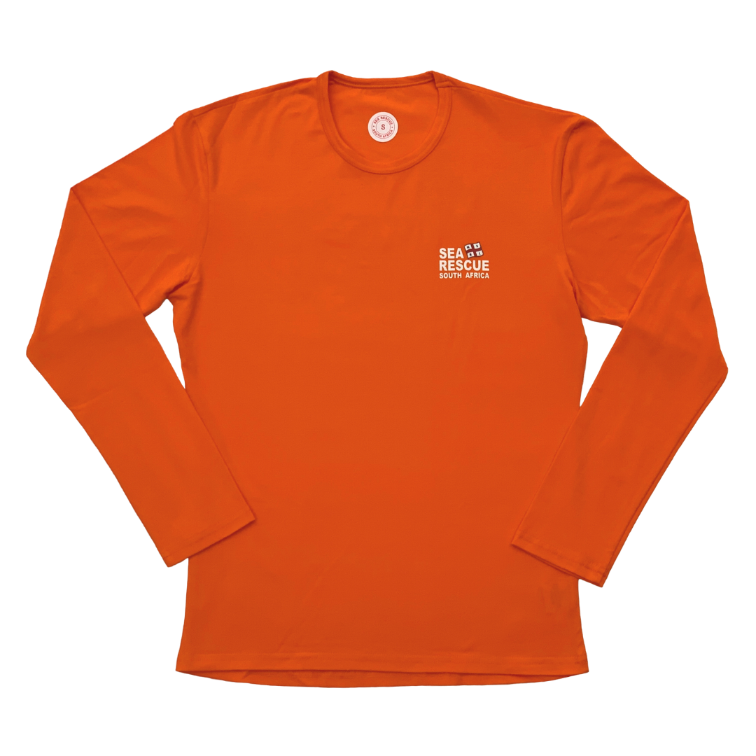 "NSRI Long Sleeve T-Shirt ""Sea Rescue"" (Unisex) Orange"