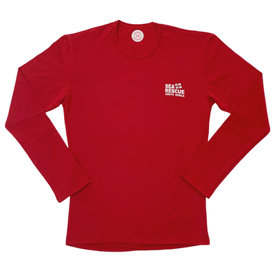 "NSRI Long Sleeve T-Shirt ""Sea Rescue"" (Unisex) Red"