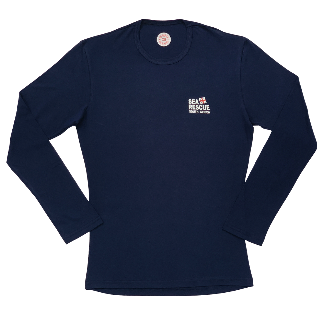 NSRI T-Shirt - Long Sleeve Navy Blue
