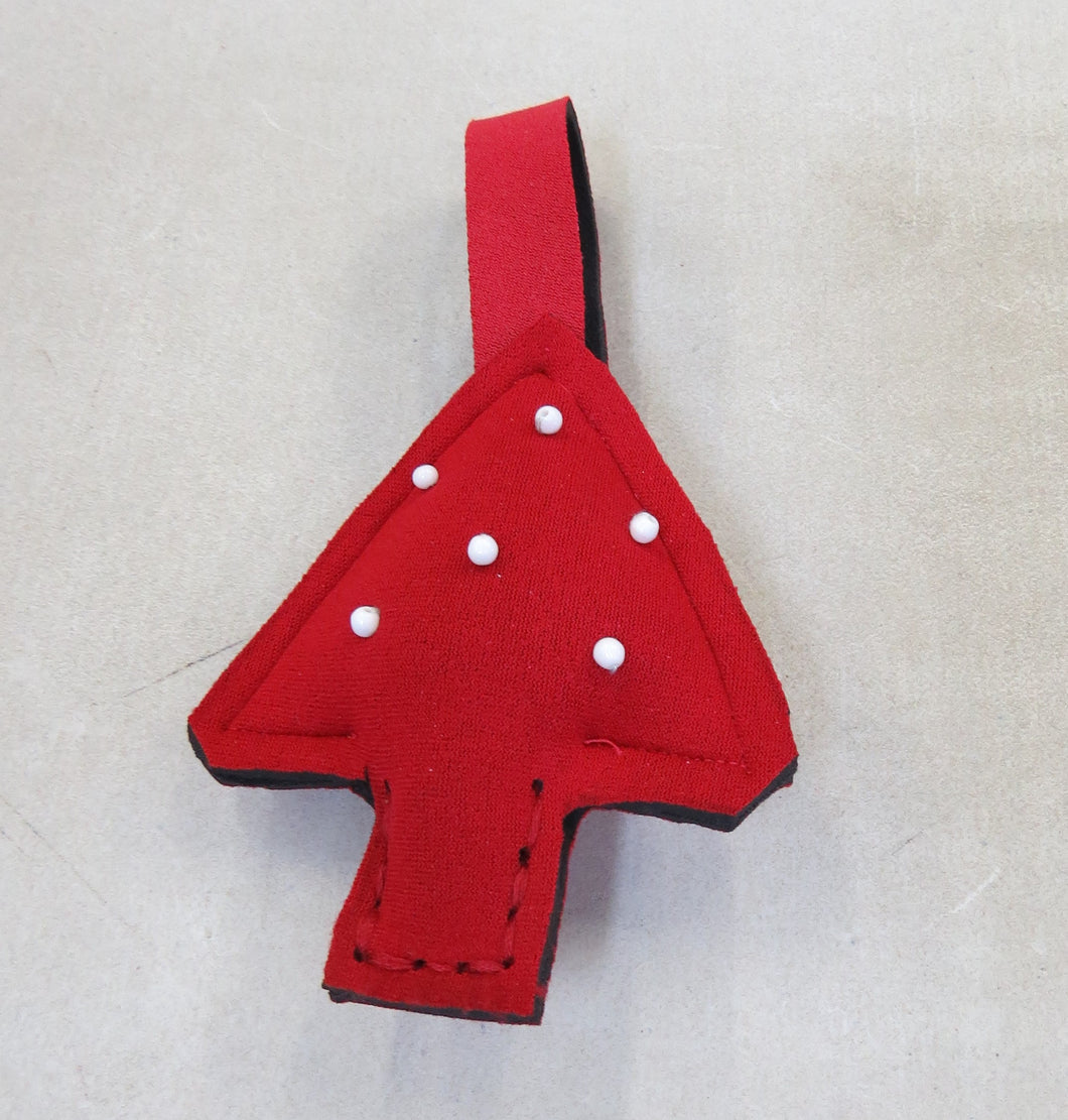 Recycled wetsuit Christmas tree decoration (set of 3)