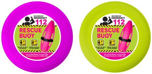 Pink Buoy Frisbees