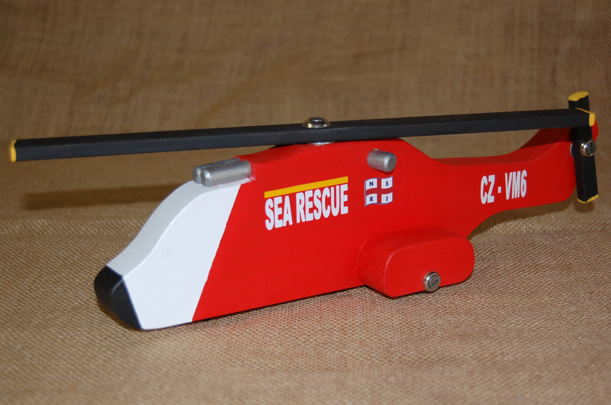NSRI Wooden Toy Sea Rescue Puma Chopper (large)