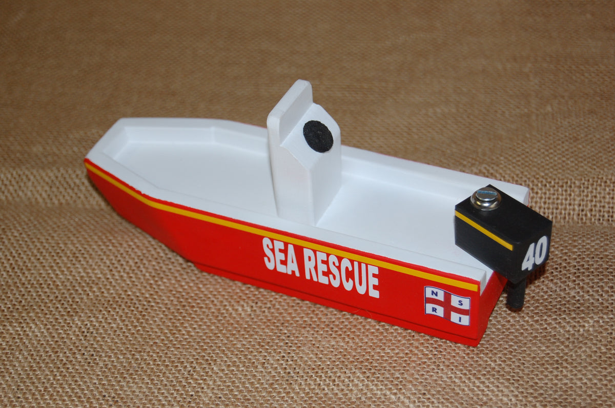 NSRI Wooden Toy Sea Rescue Boat