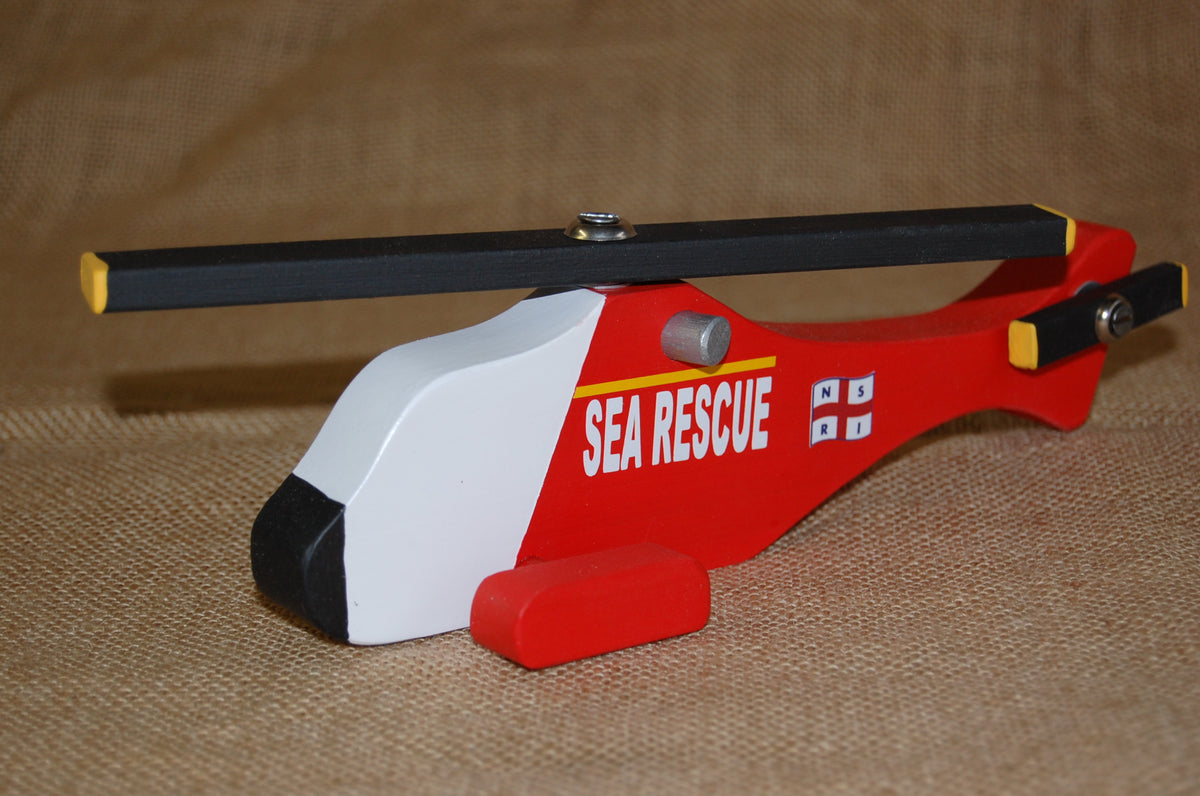 NSRI Wooden Toy Sea Rescue  Chopper (Small)