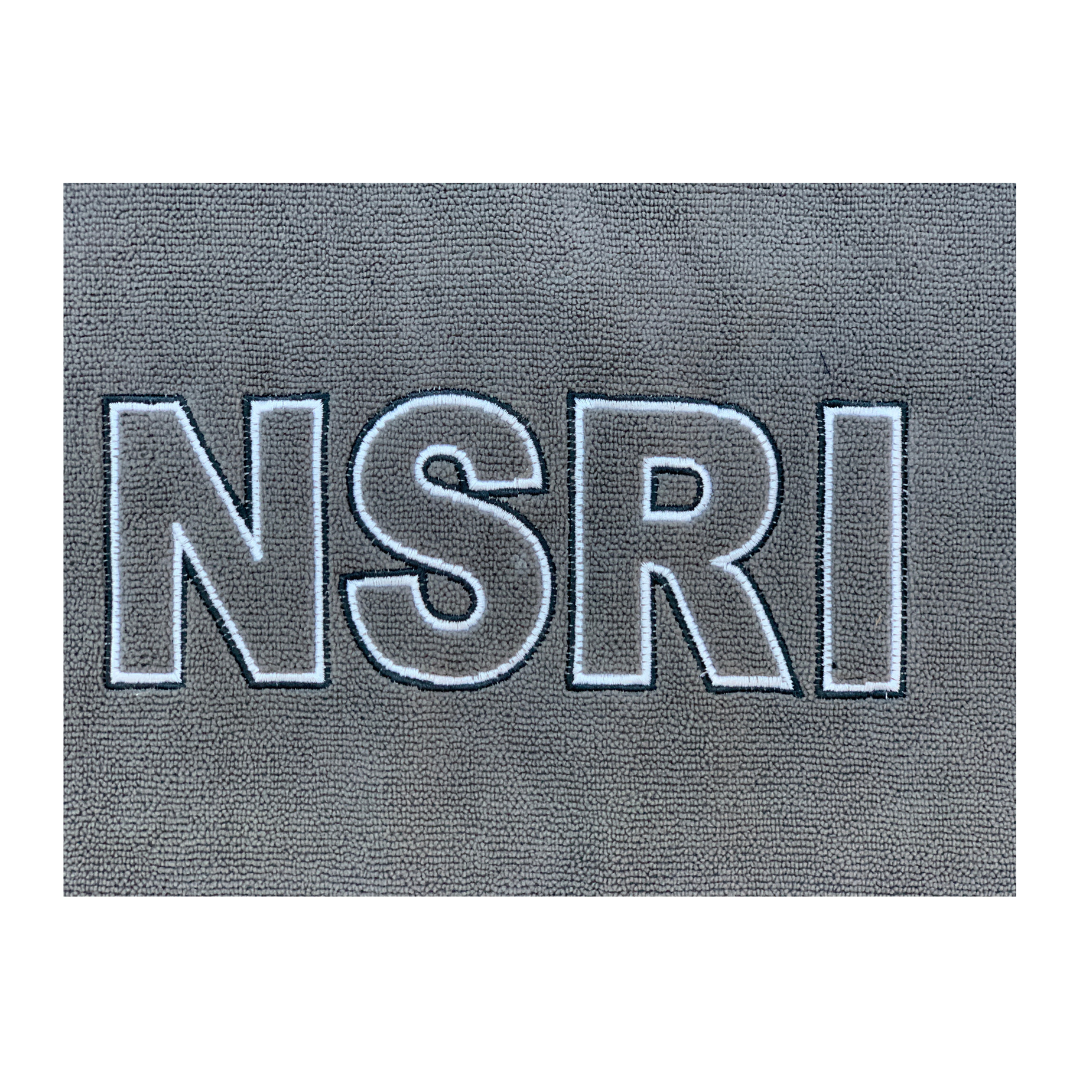 "NSRI Hooded Poncho Changing Towel ""Embroidered Logo"" (Unisex) Grey"