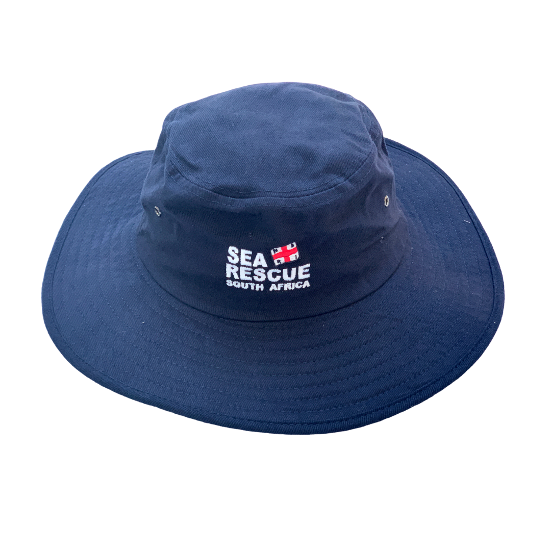NSRI Wide Brim Hat Navy Blue
