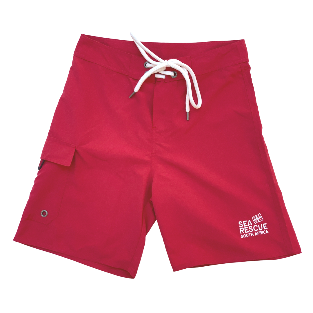 NSRI Crew Uniform Lifeguard Board Shorts Red (Ladies)