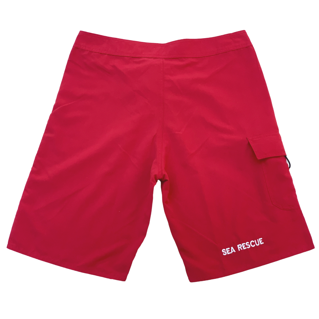 NSRI Lifeguard Crew Uniform Board Shorts Red (Mens)