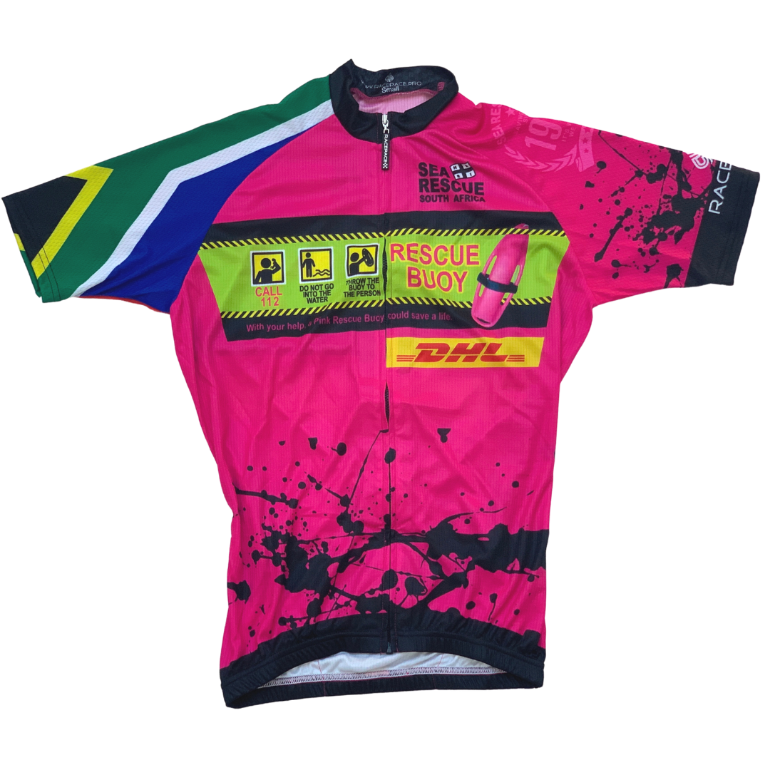 "NSRI Cycle Jersey ""Pink Rescue Buoy"" (Unisex)"