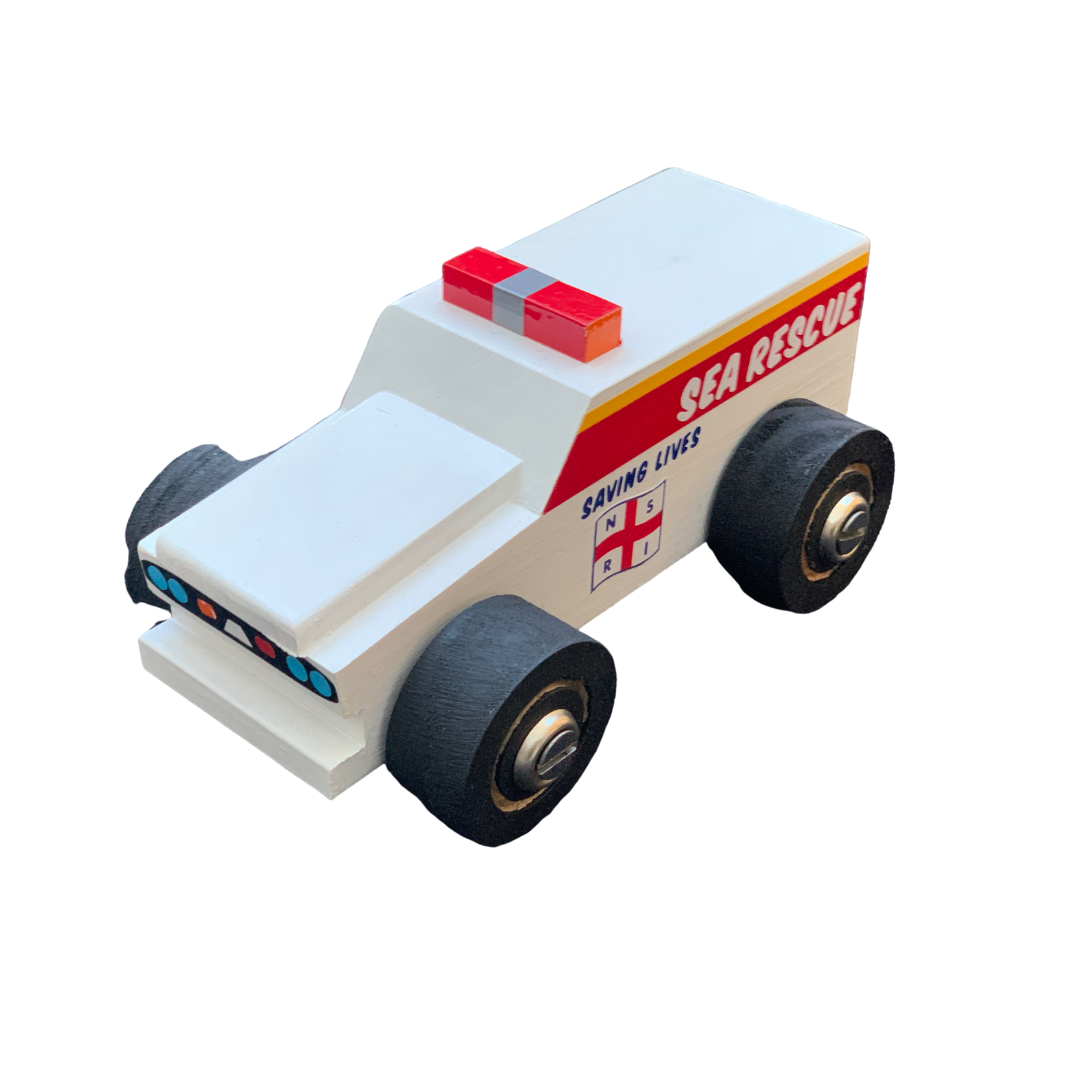 NSRI Wooden Toy Sea Rescue Vehicle