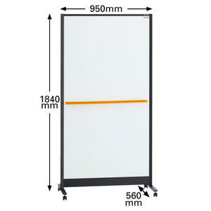 PLUS Double Sided Partition Whiteboard ( W950MM ) ~ NEW