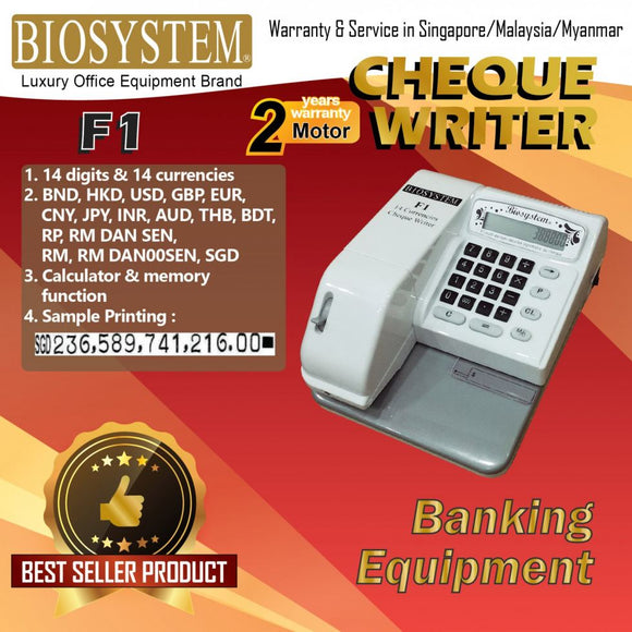 Biosystem F1 Cheque Writer