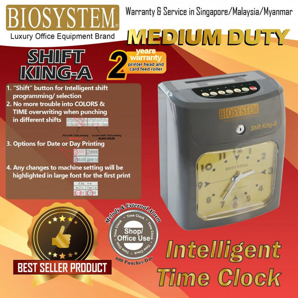 Biosystem Shift King-A Time Recorder Machine