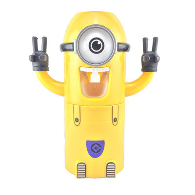 minion bathroom set.  Automatic Toothpaste Dispenser And Toothbrush Holder Set Minion Cartoon Character