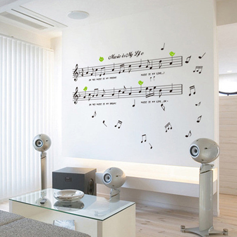 music theme sticker for decorating your bedroom or music studio
