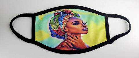 Washable Taji Wrap Queen Face Mask