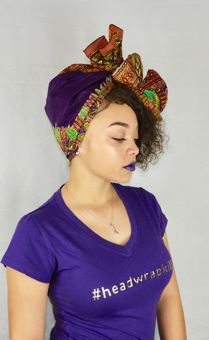dashiki print purple