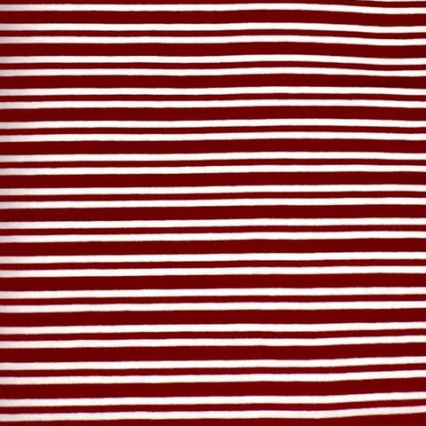 Stretch Wrap Stripes Maroon & White