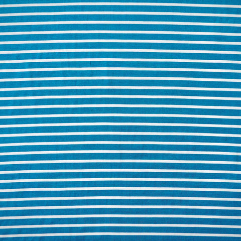 Stretch Wrap Stripes Ocean Blue & White