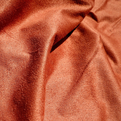 Faux Suede Burnt Orange