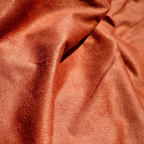 Taj Faux Suede Burnt Orange (double length)
