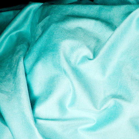 Faux Suede Turquoise