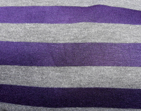 Stretch Wrap Stripes Grey & Purple