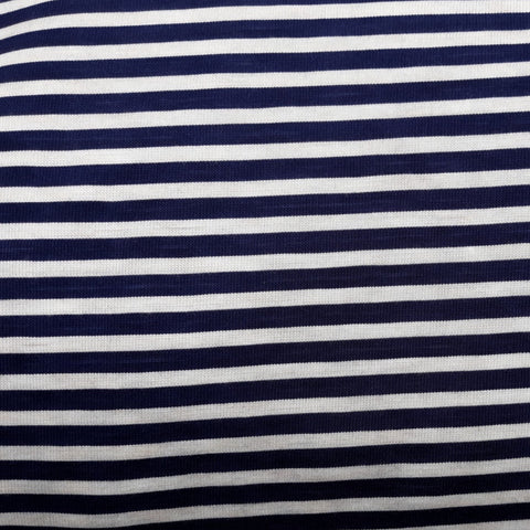 Stretch Wrap Stripes Navy & White