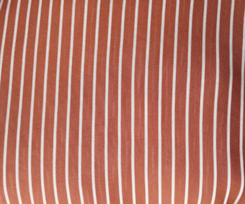 Stretch Wrap Stripes Brown & White