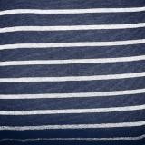 Stretch Wrap Stripes Navy Blue & Grey