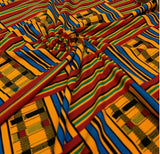 Stretch Wrap Kente Stripes