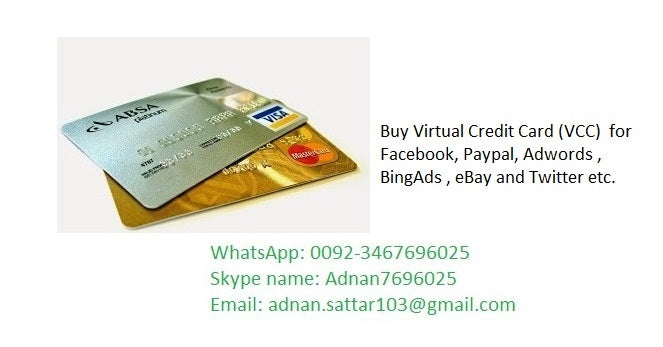 VCC For Paypal Account Verification - Virutal Credit Card
