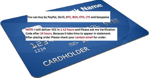 Virtual credit card paypal account