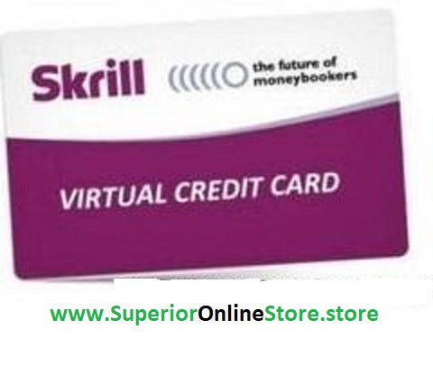 Buy Virtual Credit Card (VCC) For Skrill (MoneyBookers) Account