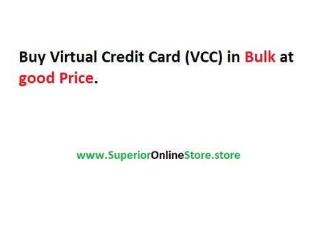 Buy Virtual Credit Card (VCC) with BTC, PayPal and Skrill