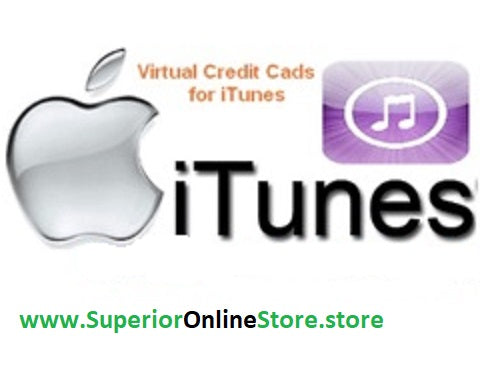 Buy Virtual credit Card (VCC) for itunes store