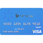 Virtual credit card vcc for bing ads acount verification