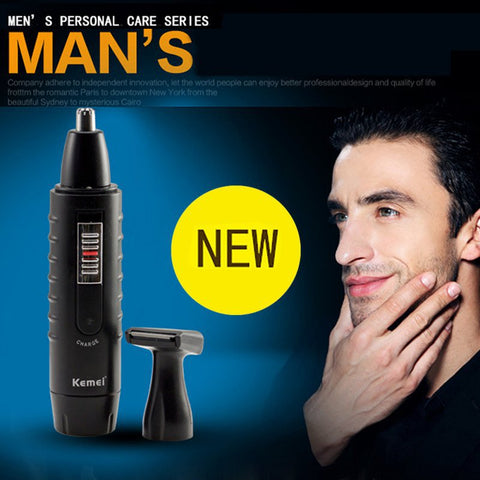 2 in 1 Mens Ear Nose Face Neck Eyebrow Beard Trimmer