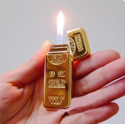 Creative Gold bar Grinding wheel Cigarette Lighter