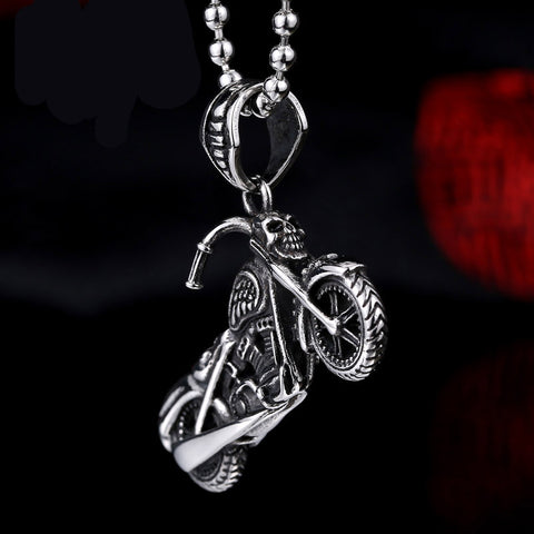 High Quality 316L Stainless Steel BIker Punk Necklace