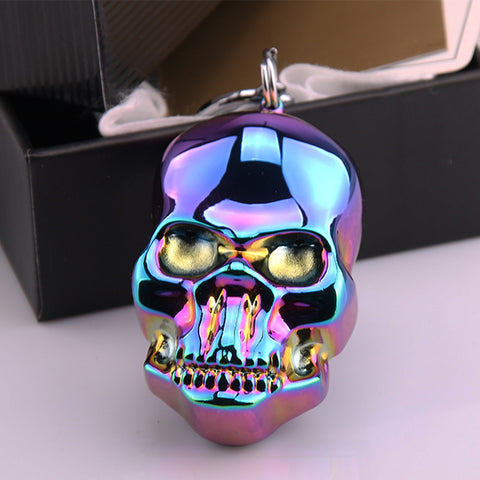 Electronic USB Lighters With Key Ring Skull For Men