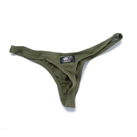 Mens Briefs Mesh Hole Thongs Low Rise G-string