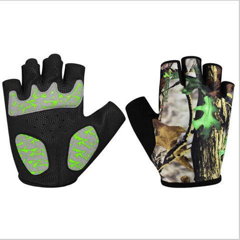 Breathable Wrist Wrap Gym Half Finger Gloves